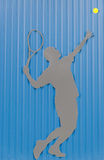 Tennisspieler, Hintergrund Lizenzfreies Stockbild