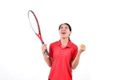 Tennisspieler lokalisiert Lizenzfreie Stockfotos