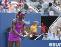 Tennisspieler Sloane Stephens an US Open 2013 Lizenzfreie Stockfotos