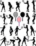 Tennisspielermädchen Stockbild