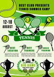 Tennissportkoloni, utbildande klubba royaltyfri illustrationer