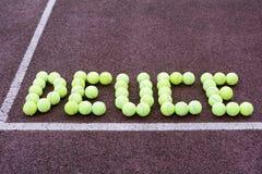 Tennisställningfyrtio lika Arkivbilder