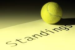 Tennisstellungen Lizenzfreie Stockbilder