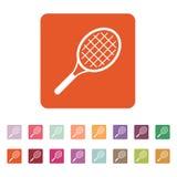 Tennissymbolen modigt model symbol för överdängare 3d plant Stock Illustrationer