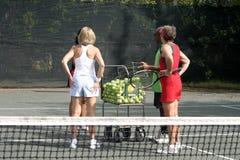 Tennisteamsitzung stockbilder