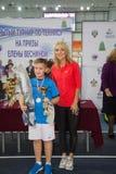 Tennistoernooien voor prijzen van Elena Vesnina Royalty-vrije Stock Foto's