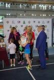 Tennistoernooien voor prijzen van Elena Vesnina Stock Fotografie