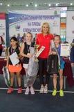 Tennistoernooien voor prijzen van Elena Vesnina Stock Afbeelding