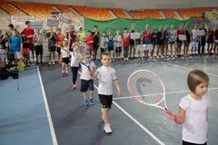 Tennistoernooien voor prijzen van Elena Vesnina Royalty-vrije Stock Foto