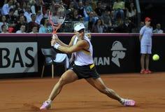 Tennisvrouwen WTA 3 gerangschikte Duitse speler Angelique Kerber royalty-vrije stock foto