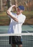 Tenniswinkelstück injuiry Lizenzfreie Stockfotografie