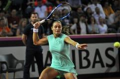 Tenniswoman nell'azione Immagine Stock Libera da Diritti