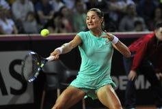 Tenniswoman nell'azione Immagini Stock