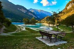 Tenno del lago con la riflessione della montagna Immagine Stock Libera da Diritti