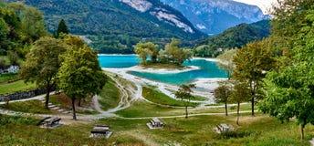 Tenno del lago con la riflessione della montagna Fotografia Stock