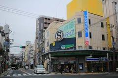 Tennoji区街道视图 库存图片
