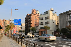 Tennoji区,大阪日本街道视图 库存照片