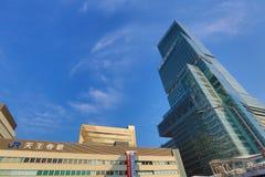 Tennoji区,大阪日本街道视图 免版税库存照片