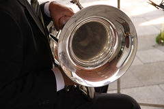 Tenor Horn Player Stock Photo