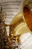 Tenor Sax. Ophone with sheet music Stock Photography