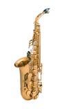 Tenor sax golden saxophone. Isolated on white background Royalty Free Stock Photos