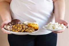 Tenore di zucchero in pasticceria con la pila di zucchero cubico fotografie stock libere da diritti