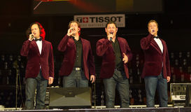 Tenors of I Quattro at Sixday-Nights Z�rich 2011 Stock Photo