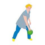 Tenpin bowler. A tenpin bowler releases his bowling ball Royalty Free Stock Photos