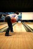Tenpin Bowling. Bowling Sport - Player in Action - Motion and Movement royalty free stock photo