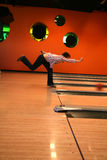 Tenpin Bowling. Bowling Sport - Player in Action - Motion and Movement royalty free stock photography