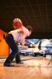 Tenpin Bowling. Bowling Sport - Player in Action - Motion and Movement royalty free stock images
