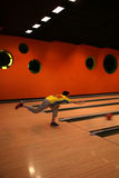 Tenpin Bowling. Bowling Sport - Player in Action - Motion and Movement stock images