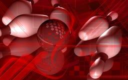 Tenpin and dollar ball. Digital illustration of Stock Images
