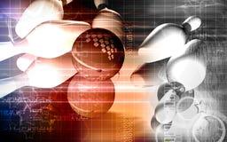 Tenpin and dollar ball. Digital illustration of Stock Image