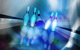 Tenpin and dollar boll Stock Images