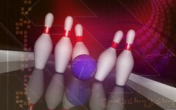 Tenpin and dollar boll Stock Photography