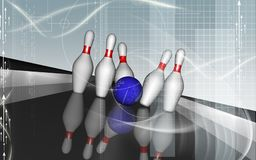 Tenpin and dollar boll Royalty Free Stock Photo