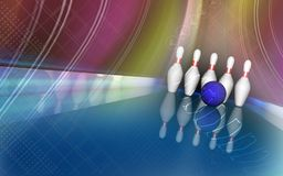 Tenpin and dollar boll Royalty Free Stock Photos