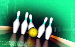 Tenpin and dollar boll Stock Photo