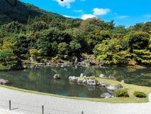 tenriuji寺庙的湖 免版税库存照片