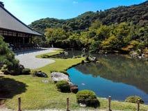 tenriuji寺庙禅宗风景  免版税库存照片