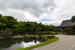 Tenryu籍,寺庙在京都,日本 库存图片