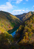 Tenryu river in Autumn, in Nagano, Japan Stock Photography