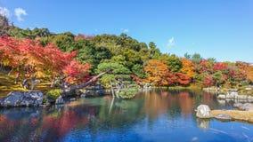 Tenryuji Sogenchi,世界遗产名录站点在京都 免版税库存照片
