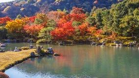 Tenryuji Sogenchi,世界遗产名录站点在京都 免版税库存图片