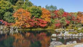 Tenryuji Sogenchi Garden in Kyoto Royalty Free Stock Photos