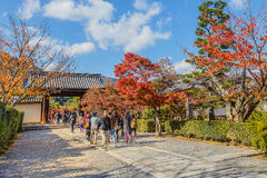 Tenryuji Sogenchi Garden in Kyoto royalty free stock image