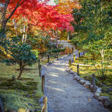 Tenryuji Sogenchi Garden in Kyoto Stock Image