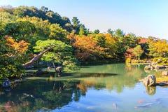 Tenryuji Sogenchi Pond Garden, Kyoto, Japan. Stock Image