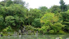 Tenryuji temple garden in Arashiyama, Kyoto Royalty Free Stock Photos